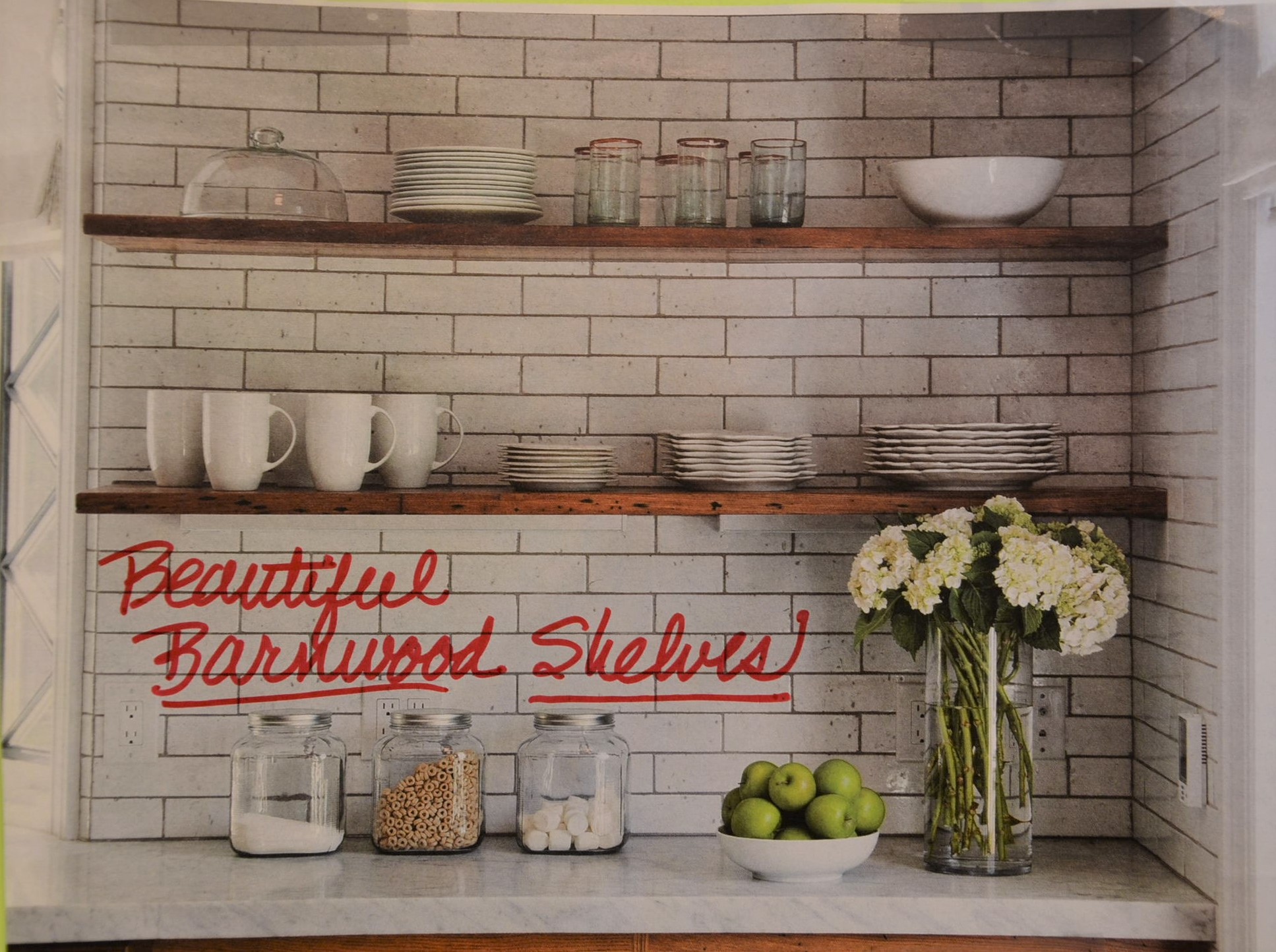 Thick Cut Wood Board Shelves