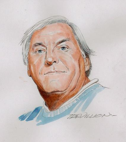 Sketch of Keith HAckett by Trevillion
