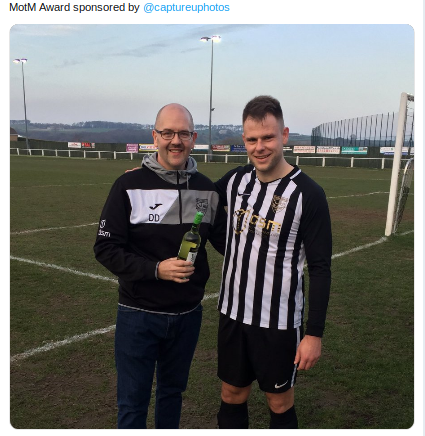 Man of the Match Ash Ellis awarded by  @captureuphotos