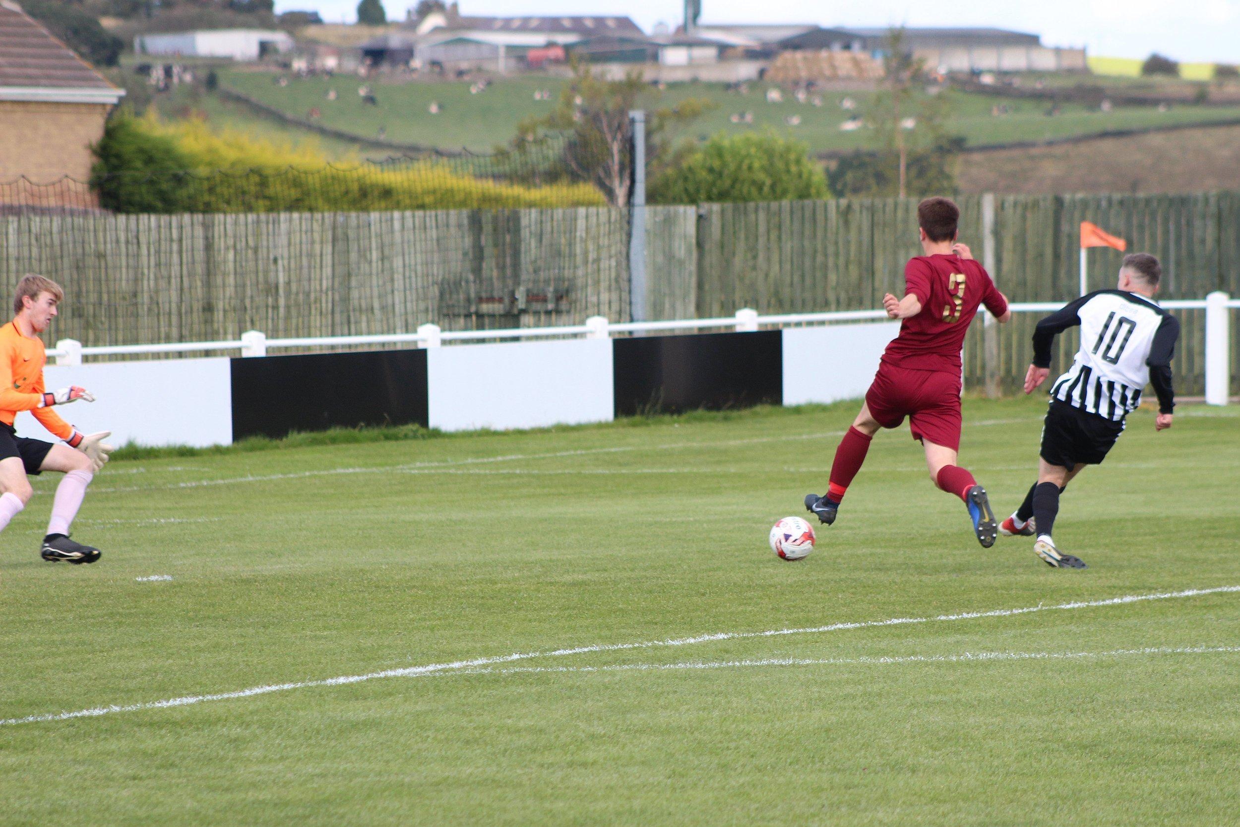 Jordan Codhuri puts Church 1-0 up