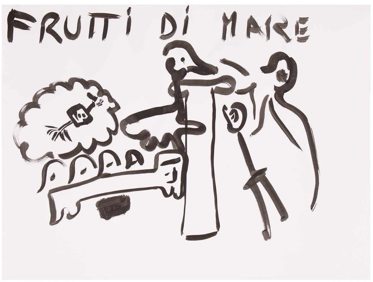 Frutti di Mare  ink on paper, 70 x 100 cm
