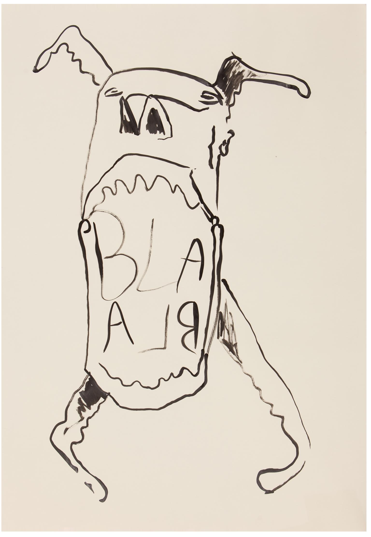 Blabla  ink on paper, 70 x 100 cm