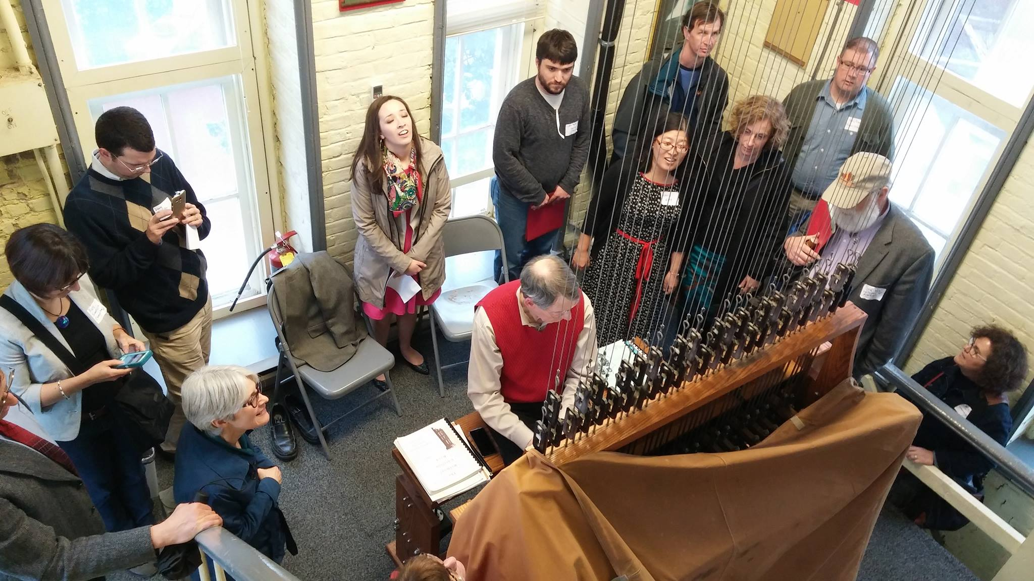 Dr. Richard Shadinger gives a demonstration on the Belmont University Carillon