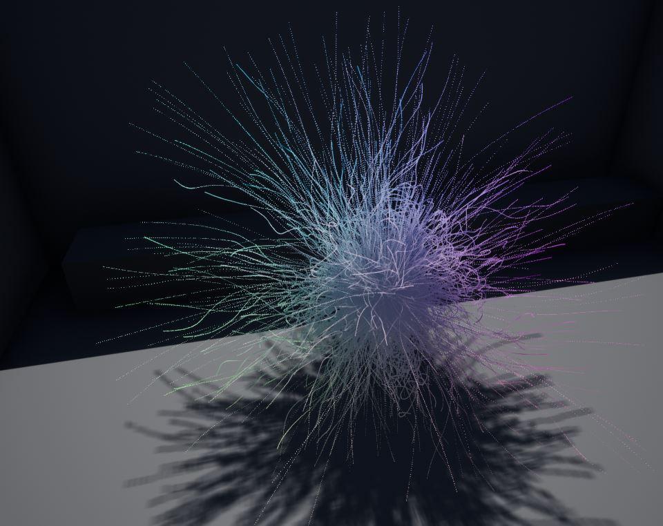 Simulated supernova explosion