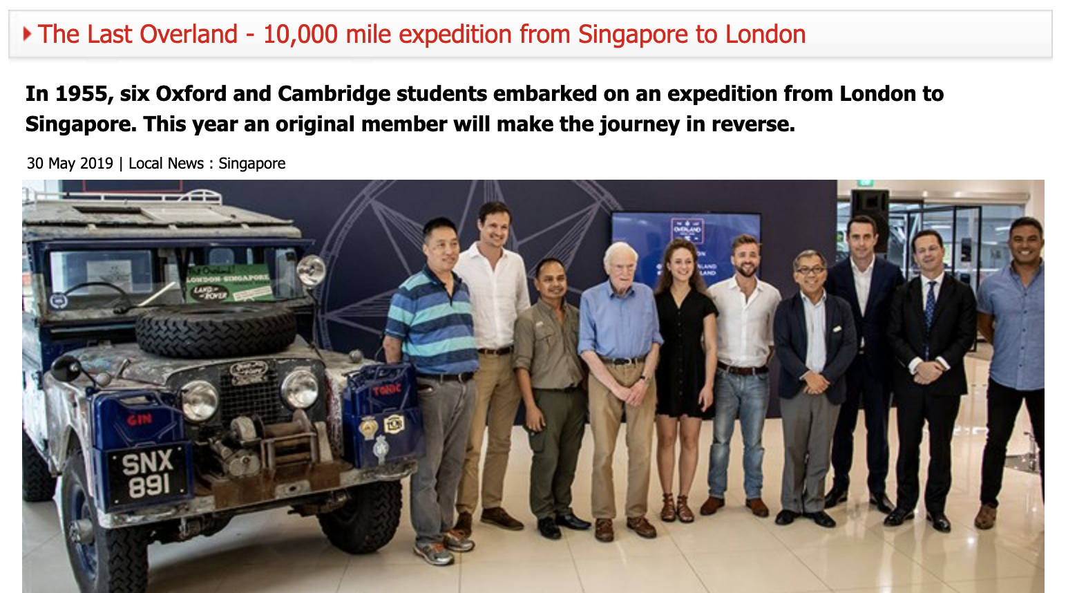 The Last Overland - 10,000 mile expedition from Singapore to London