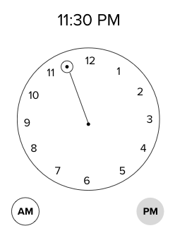 New clock feature based on group feedback