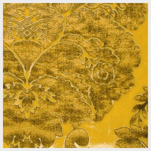 Gold Leather Embossed Velvet