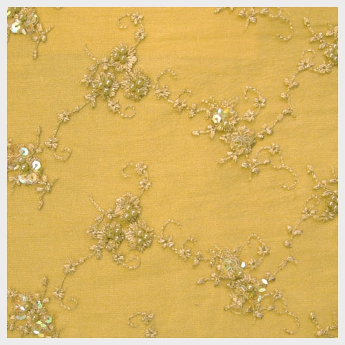 Gold Beaded Tulle