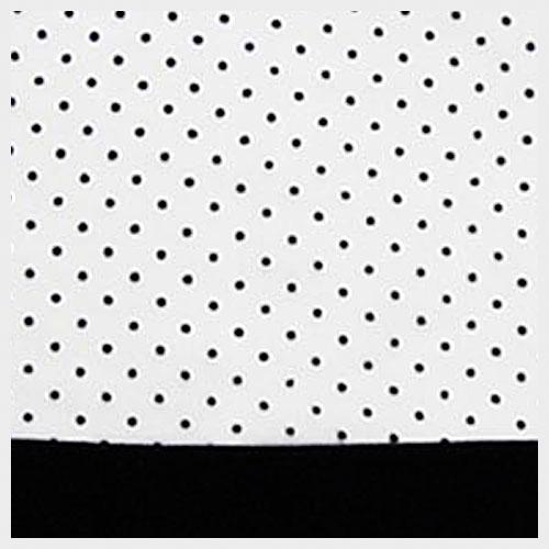 White Organza with Black Pin Dot