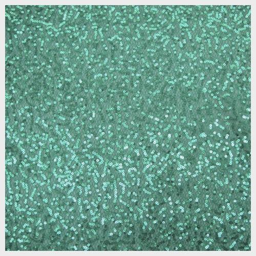 Turquoise Sequin Mesh