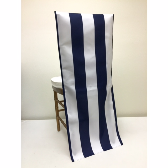 Navy Stripe Chair Back