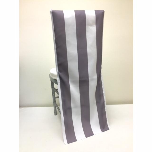 Grey Stripe Chair Back
