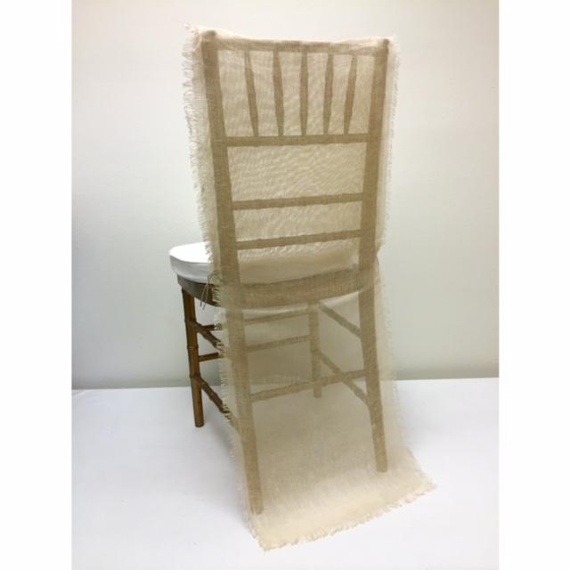 Natural Gauze Chair Runner