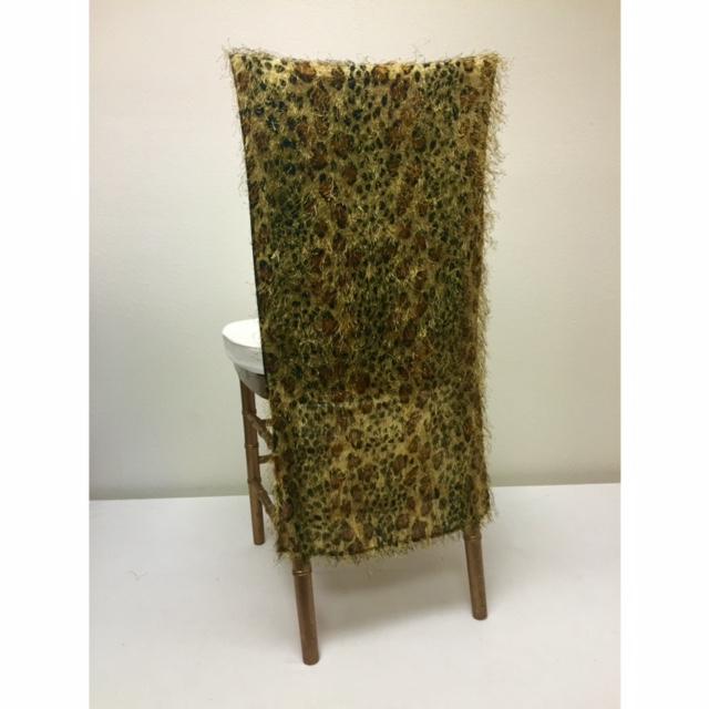 Gold Leopard Eyelash Chair Back