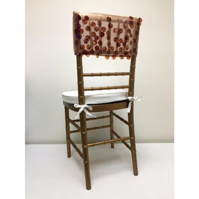 Champagne Tortoiseshell Paillette Chair Cap