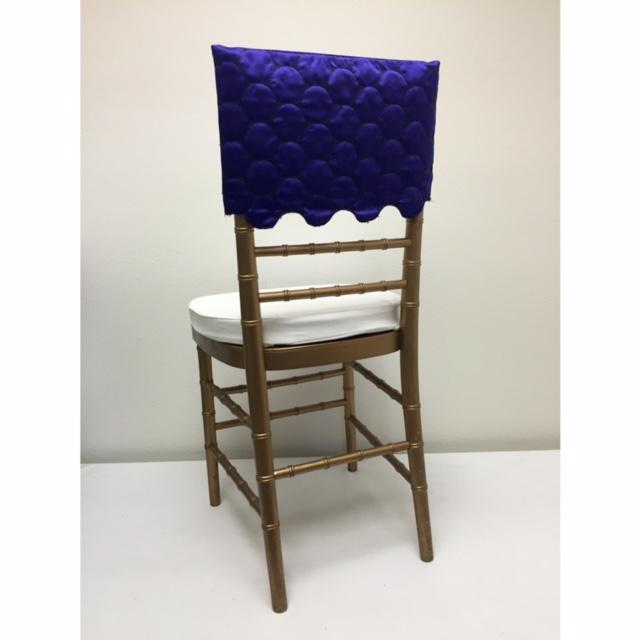 Purple Circle Satin Chair Cap
