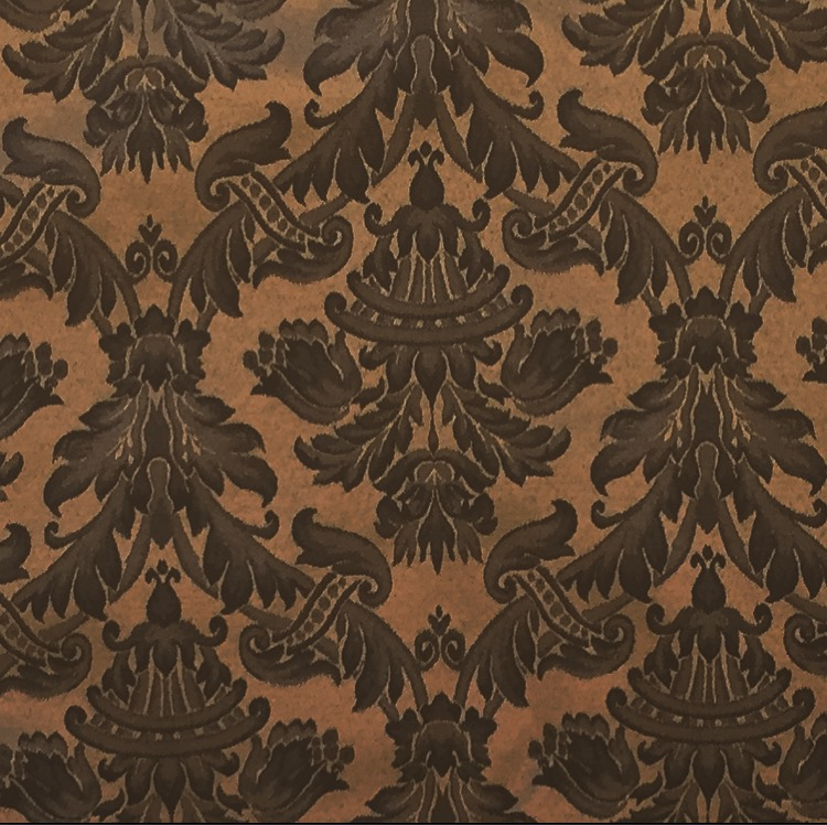Black Brown Damask