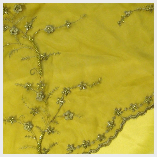Peridot Beaded Embroidered Organza