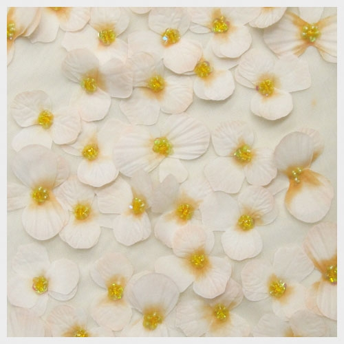 Ivory Gold Floral Tulle
