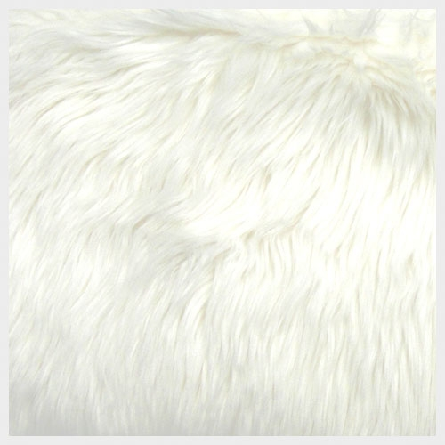 White Organza with Faux Fur