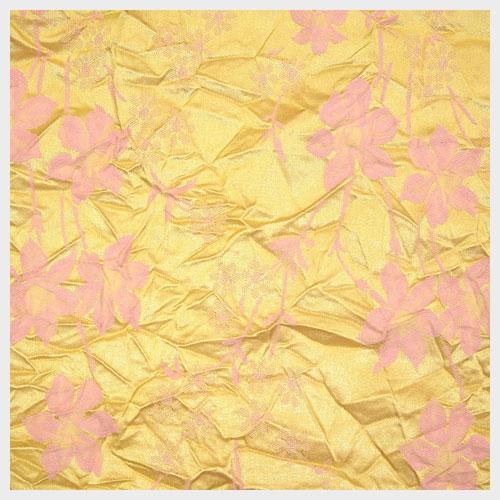 Pink Gold Crushed Jacquard