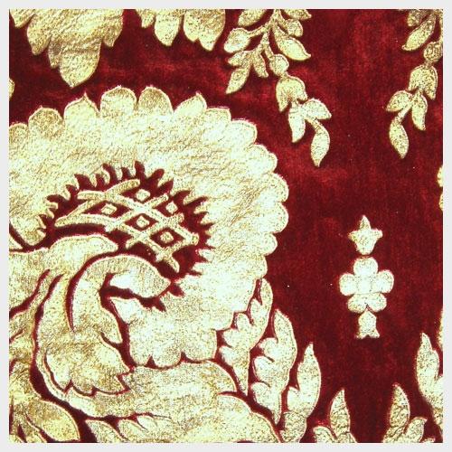 Scarlet Leather Embossed Velvet