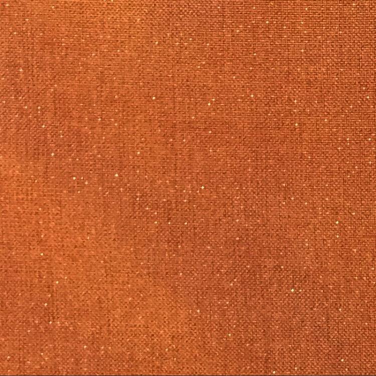 Cinnamon Metallic Linen