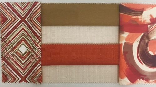 Flame Pismo | Bronze Nu Silk | Ivory Textured Linen| Saffron Textured Linen | Rice Paper Textured Linen | Sienna Juno