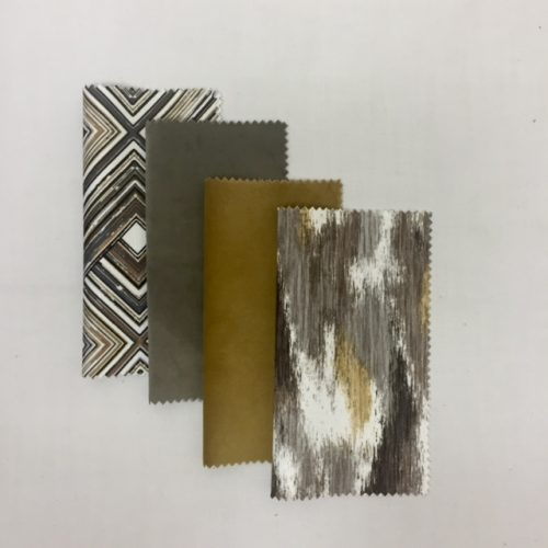 Gold Vinyl | Pewter Vinyl | Gold Suede | Amber Suede | Gold Metallic Ring | Grey-Brown Pismo | Amber Brushstroke