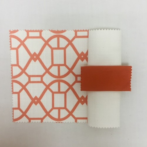 Orange Metropolis | White Textured Linen | Persimmon Nu Silk |White Bark