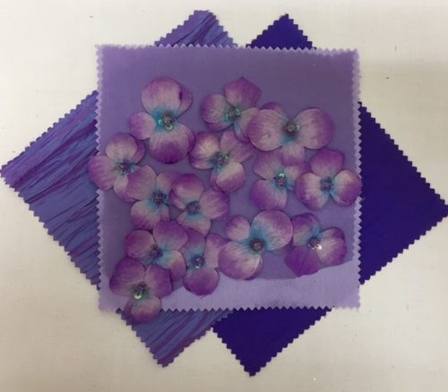 Amethyst Floral Organza | Lilac Nu Silk | Grape Nu Silk | Amethyst Bark