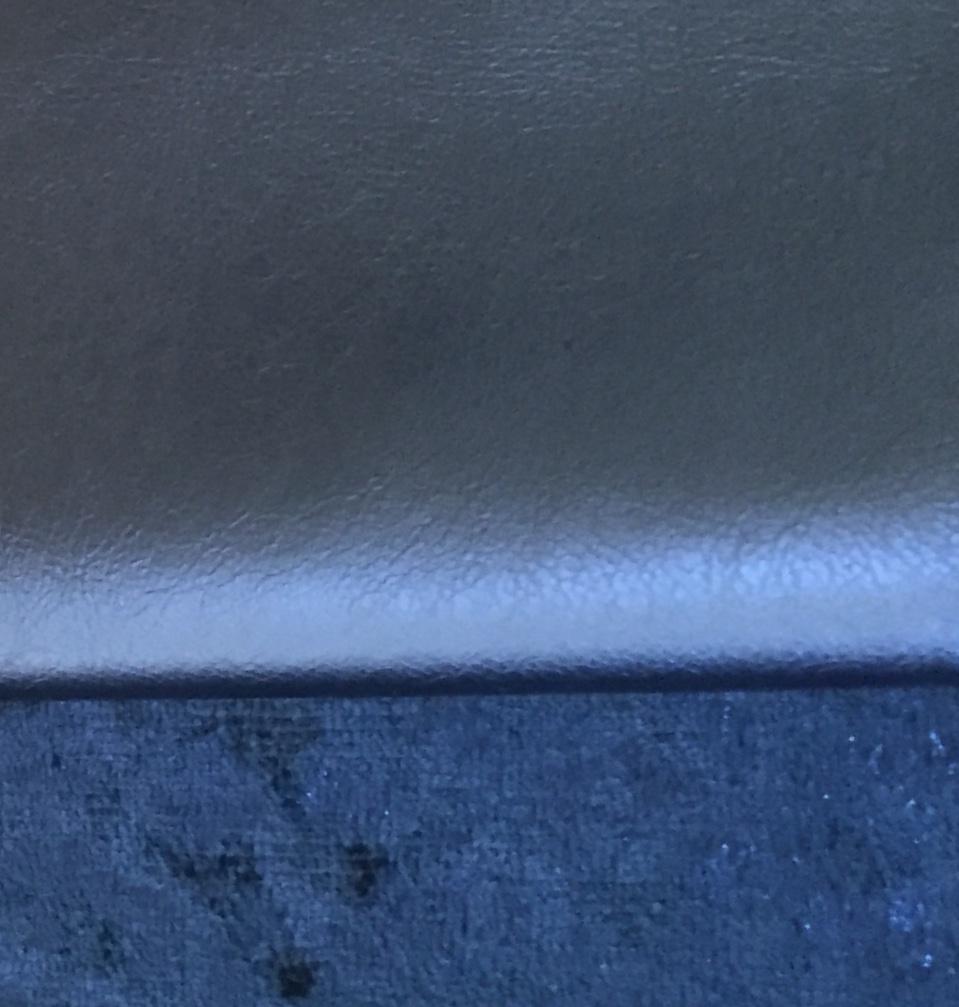 Metallic Blue Vinyl/Sapphire Hammered Velvet