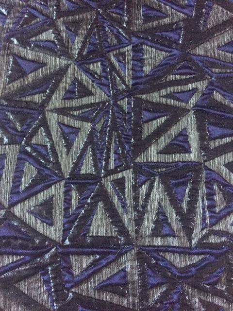 Navy Grey Deco Tapestry