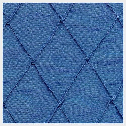 Prussian Blue Pintuck Taffeta
