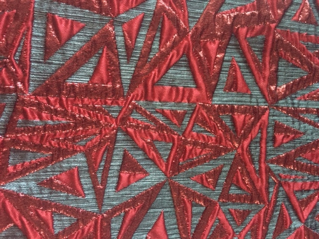 Red Grey Deco Tapestry