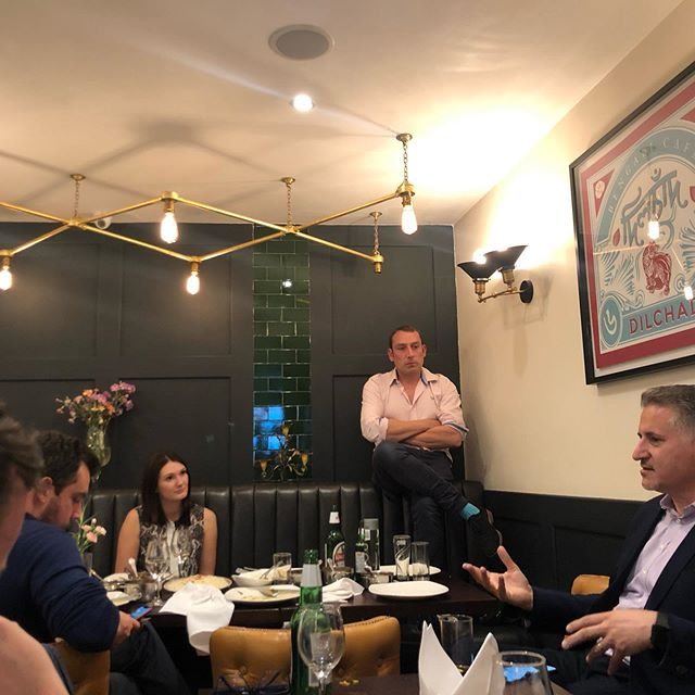 Crypto Curry Club- Blockchain kindly sponsored by Lewis Silkin LLP with the lovely Dave from #IBM speaking #cryptocurry
