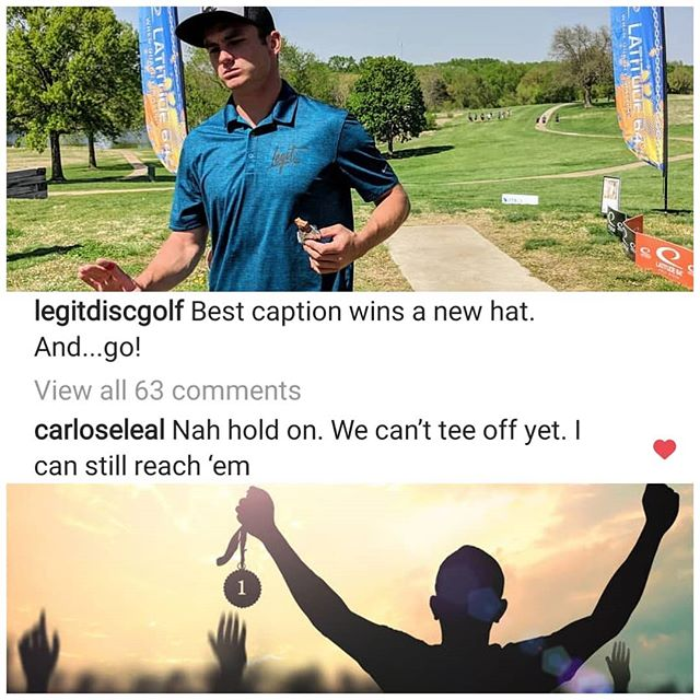 Congrats @carloseleal 🤘  You are the winner of the latest caption contest!  We'll DM you info for your new hat 🎩  #discgolfrich #winner #discgolf #legitdiscgolf