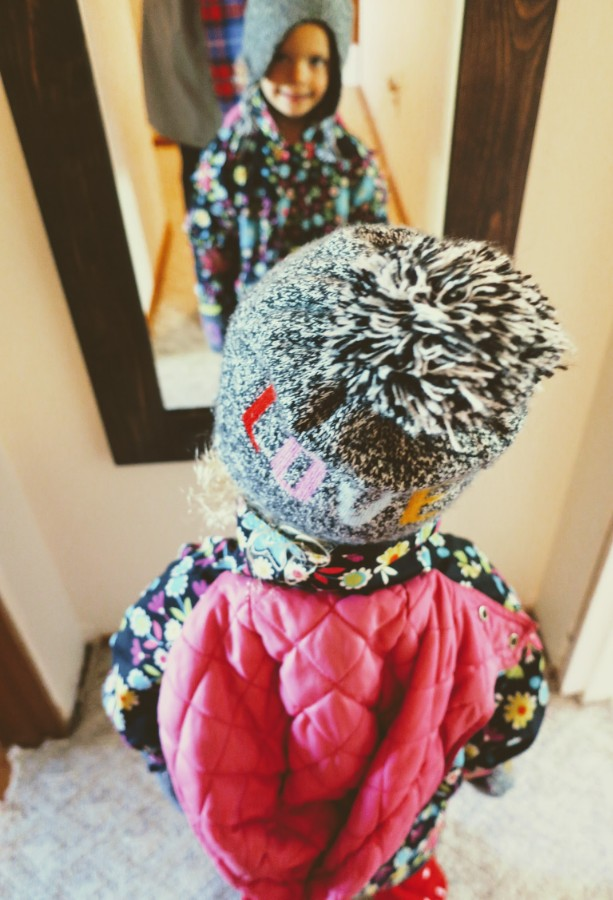 Spring weather is here to stay (I hope), so naturally Ellie wanted to wear winter clothes this week…