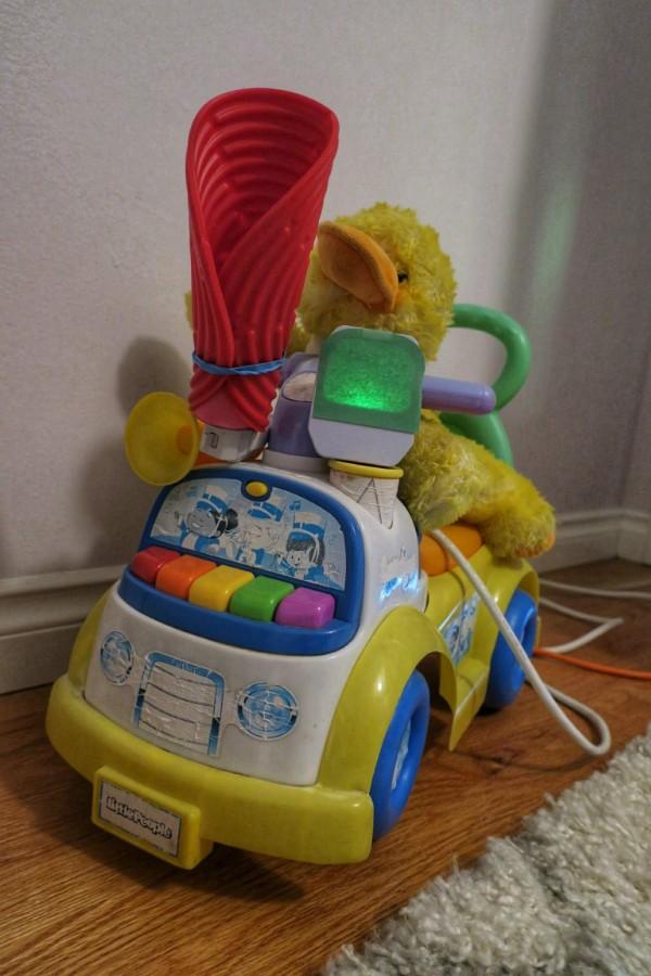 Our makeshift toddler alarm clock