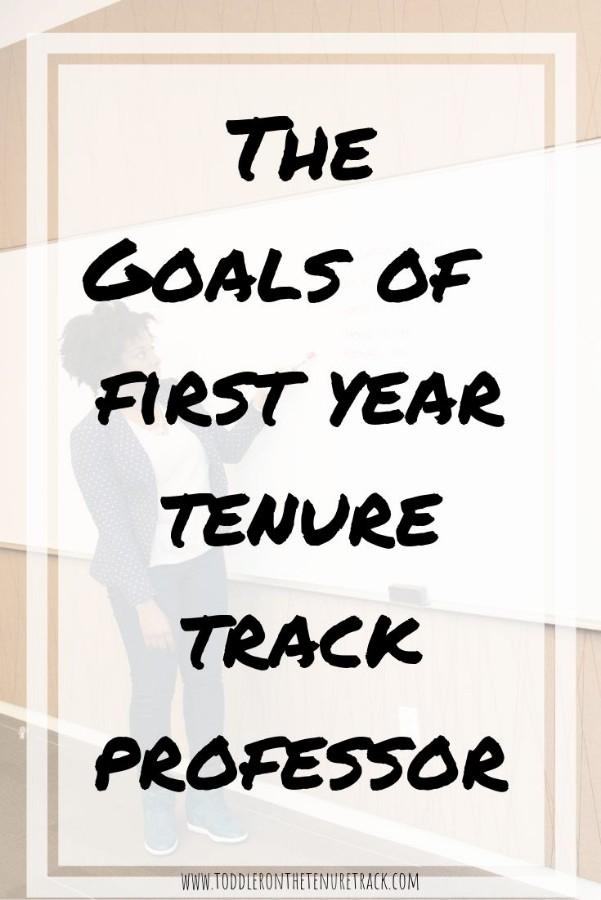 goals of a first year tenure track professor