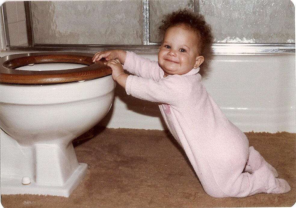 At some point in 1984 or 1985… gotta love the carpeted bathroom