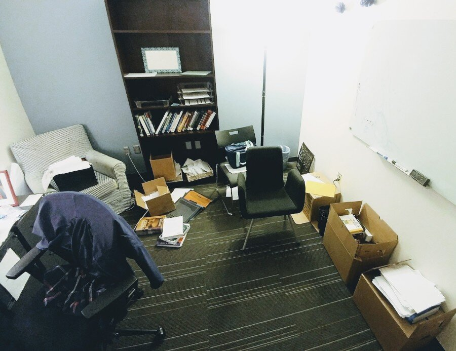 My office is a little bit of a mess…