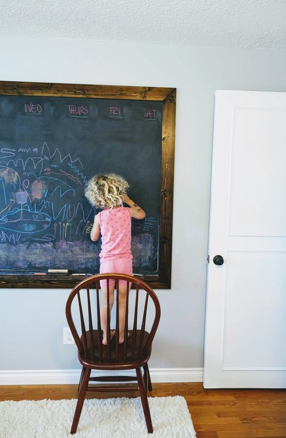 """a peek at one of the """"new"""" doors, plus Ellie's drawing of """"a fair"""" for our visitors"""