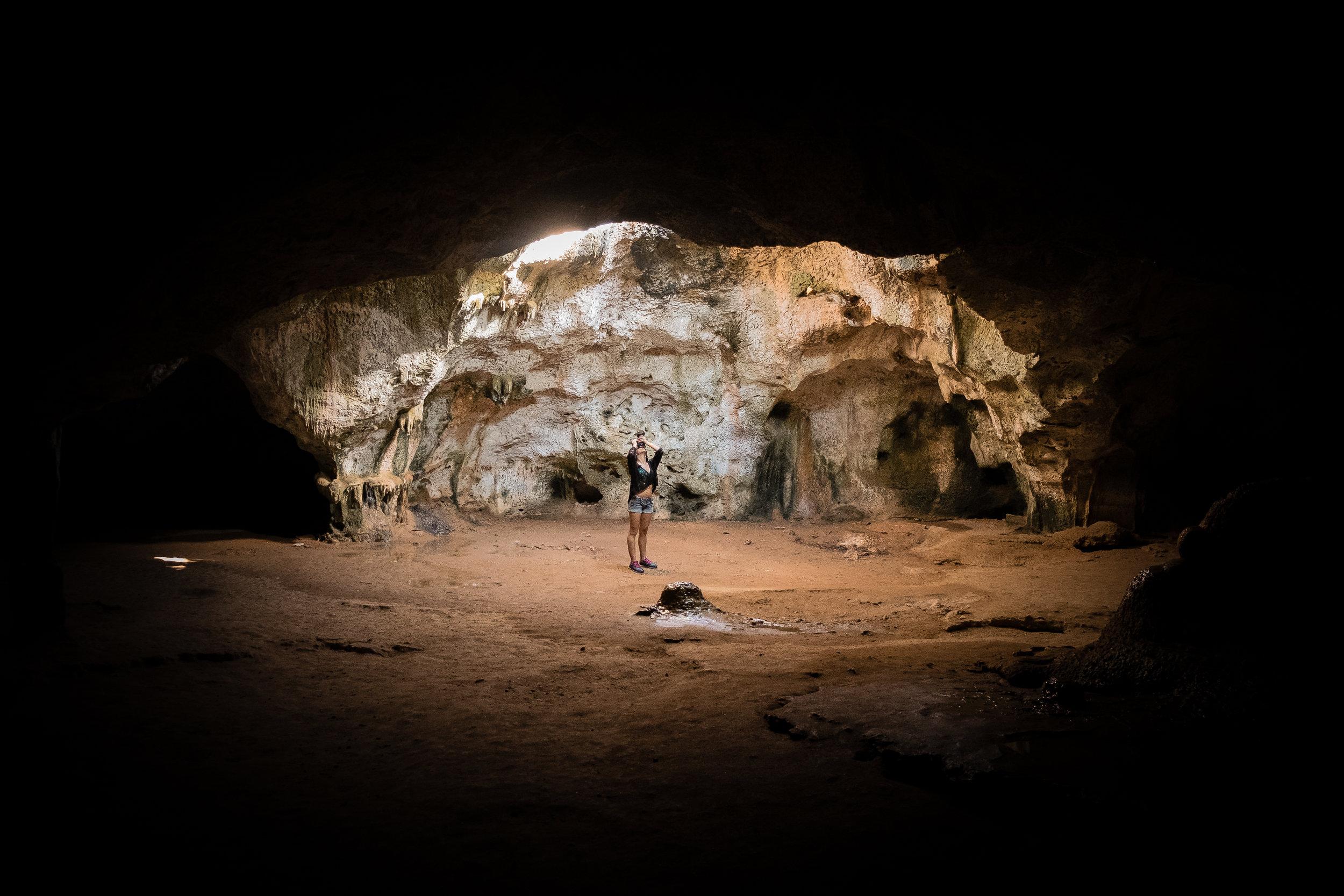 Explore a cave