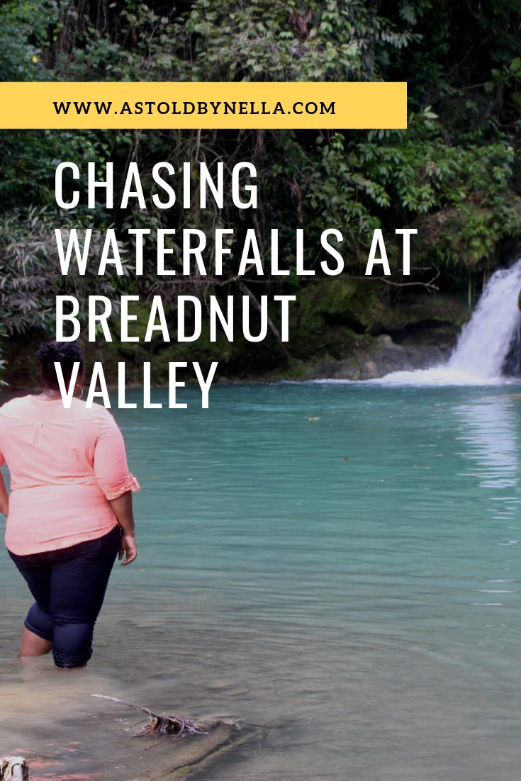 Chasing waterfalls at Breadnut Valley Jamaica