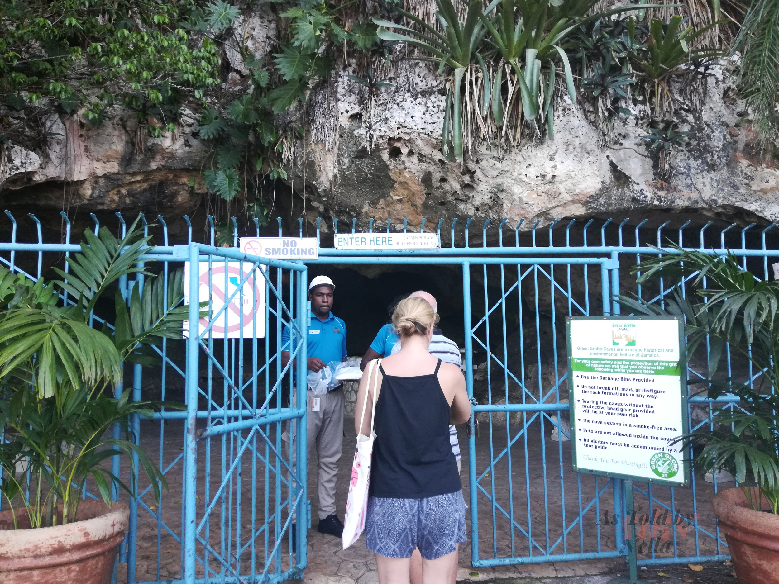 The Entrance to the Green Grotto Caves