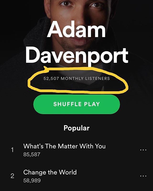 Crossed 50,000 monthly listeners on #Spotify! In January, I had just crossed 10,000. What a journey of growth 2019 is proving to be. From the bottom of my heart, THANK YOU for your support and for giving me a platform to share my love of electronic dance music with the world. . . . #Spotify #playlist #djproducer #edmlife #djlife #futurehouse #basshouse #NewMusicFriday #housemusic #viral #follow #workharder #dreambigger #nyc #tomorrowland #edc #coachella