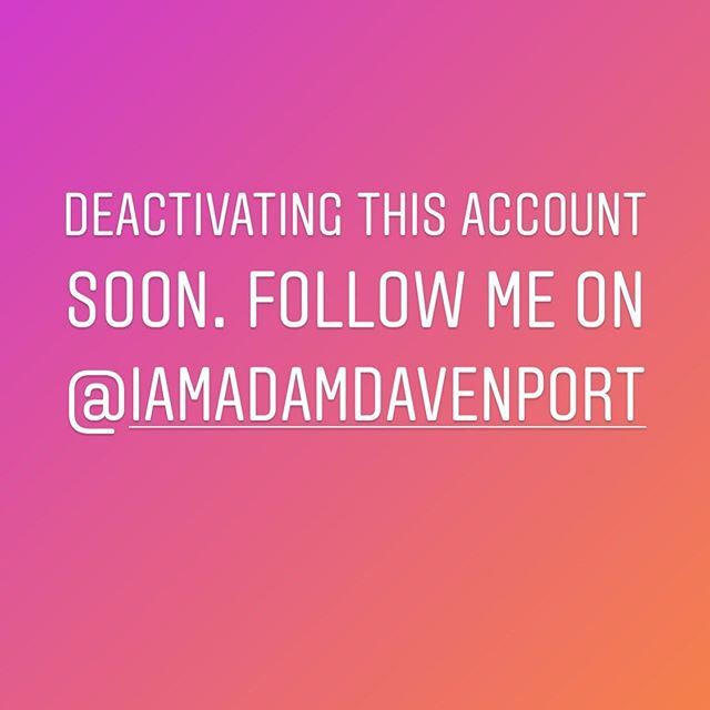 This is an inactive account. Follow me on @iamadamdavenport 💙💙