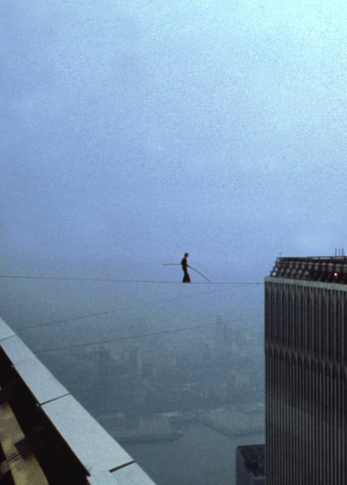 """""""The Political-Aesthetics of Groundlessness and Philippe Petit's High Wire Walk."""" Performance Matters 2.2 (2016): 43-62. - On August seventh, 1974 Philippe Petit spent forty-five minutes a quarter mile above New York City, walking on a wire suspended between the two towers of the newly erected World Trade Center. Drawing upon the seeming groundlessness of his walk, Shanks forwards the notion of a politico-aesthetics of groundlessness as a means of framing the relationship among performance practices, urban planning, and economic marginalization in the 1970s."""