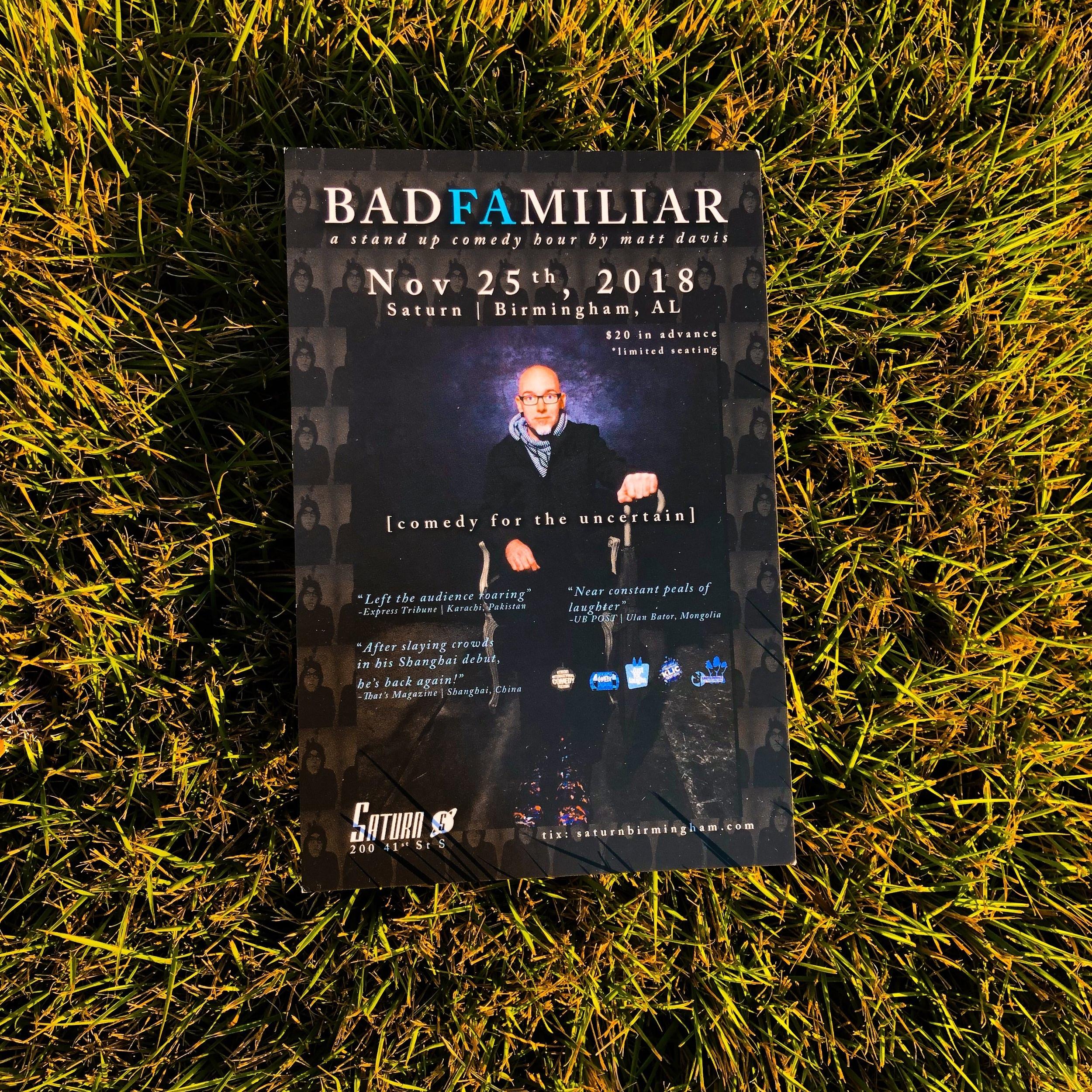 Matt Davis' BadFamiliar: Live - comedy for the uncertain
